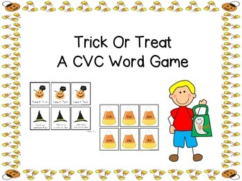 Trick -Or- Treat A CVC Word Game