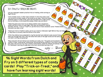 Sight Word Game: Trick or Treat
