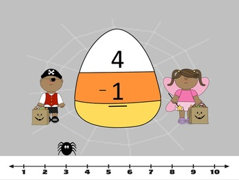 Trick Or Treat Addition and Subtraction -SMART Board