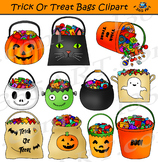 Trick Or Treat Bags Clipart Halloween Candy