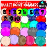Sketchy Bullet Point Numbers Clip Art Bundle {Educlips Clipart}