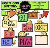 Digital Game Buttons Clip Art Bundle {Educlips Clipart}