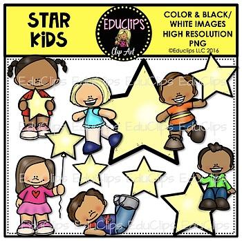 Star Kids Mini Clip Art Bundle {Educlips Clipart}