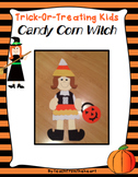 Trick Or Treating Kids -Candy Corn Witch Craft