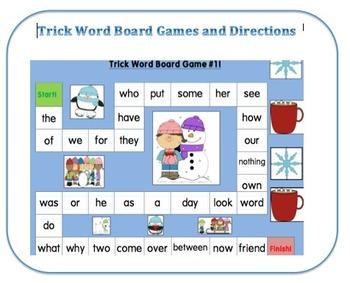 Trick Word Board Games