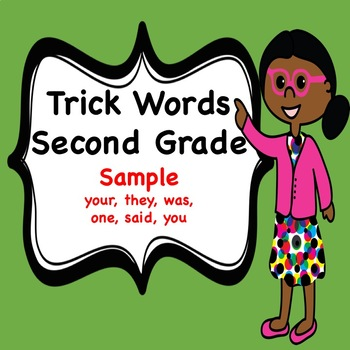 Trick Word Book for Second Grade (Sample)