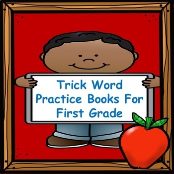 Trick Word Practice Books for First Grade (Bundle)