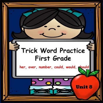 Trick Word Practice Books for First Grade