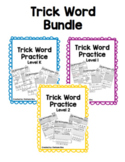 Trick Word Practice Bundle Level K, 1, 2