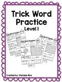 Fundational Trick Word Practice Level 1