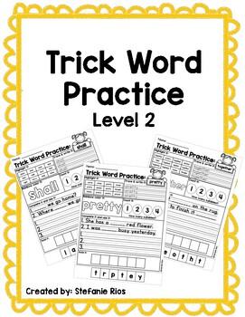 Fundational Trick Word Practice Level 2