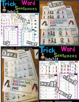 Sentence Helpers Sight Word Sentences -Wilson Fundations 1 (RTI/ Dyslexia)