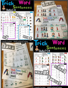 Fundations Trick Words Sentences Level 1 First Grade Sight Words