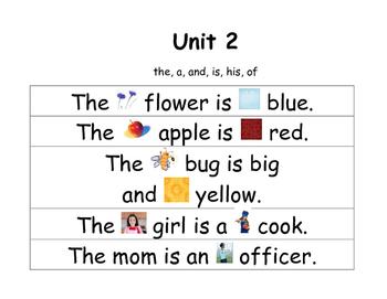 Trick Word Sentences for Pocket Chart