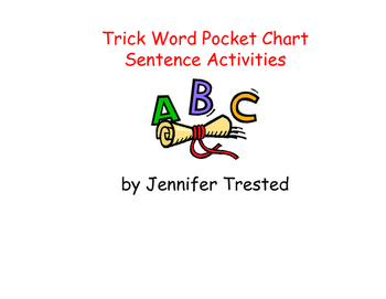 Trick Word Sentences for Pocket Chart