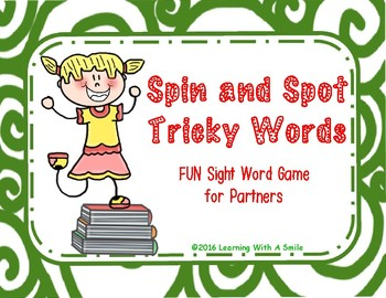 Tricky Words SPIN & SPOT Partner Game