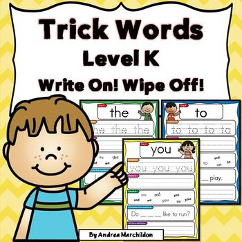 Trick Words Level K - Write On, Wipe Off!