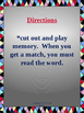 Trick Words Memory Game - Level II