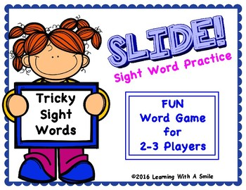 Tricky Words SLIDE! No Prep Word Game FIRST GRADE