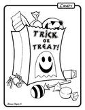 Trick or Treat Bag Coloring