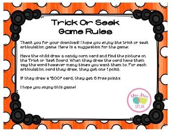 Trick or Seek Halloween Final Consonants FREEBIE
