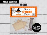 Trick or Smore Treats Bag Topper, Halloween Night Goodies Bag Ideas
