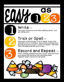 Trick or Spell [A Sweet Way to Practice Spelling]