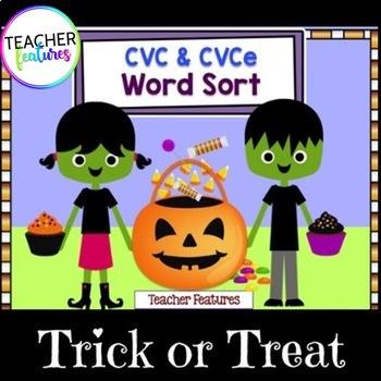 Halloween Sorts CVC & CVCe Words