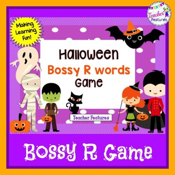 Halloween Literacy Games: BOSSY R GAME