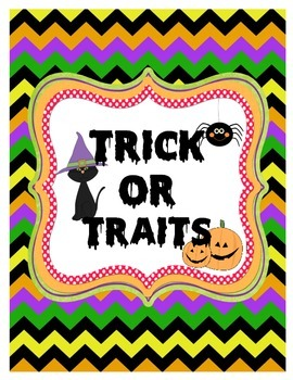 Trick or Trait: A Halloween Themed Character Trait Activity