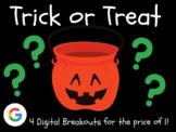 Trick or Treat: 4 Digital Breakouts (Halloween + 3 More Random Breakouts!)