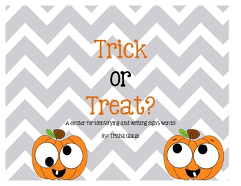 Trick or Treat: A Halloween Literacy Center