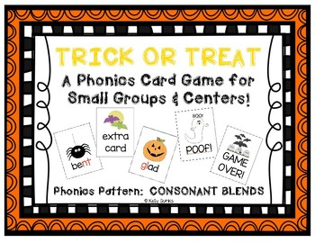 Trick or Treat: A Halloween-Themed Phonics Card Game for Consonant Blends