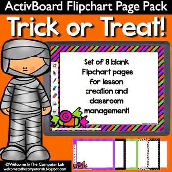 Trick or Treat ActivBoard Flipchart Page Pack