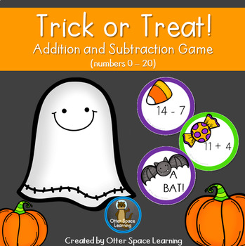 Trick or Treat! Addition and Subtraction Game (Numbers 0 -20)