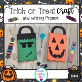 Trick or Treat Bag and Candy with Writing Prompt : Halloween Craft