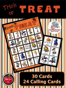 Trick or Treat Bingo Game - Kids love the colorful cartoon