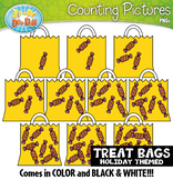 Trick-or-Treat Candy Bags Counting Pictures Clipart {Zip-A-Dee-Doo-Dah Designs}