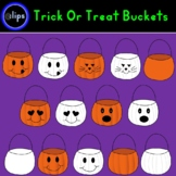 Trick or Treat Candy Bucket Set of 14 Halloween Fall