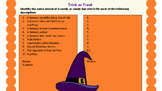 Trick or Treat Candy Worksheet