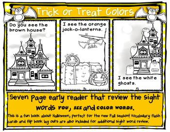 Trick or Treat Emergent Reader Color Words