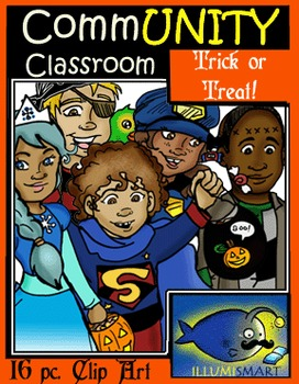 Trick or Treat CommUNITY Kids-16 pc. Clip-Art Set!