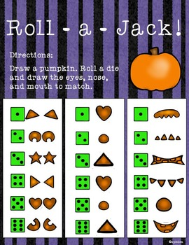 Trick or Treat Common Core Math and Literacy Centers in Color and B&W