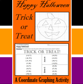 Halloween - Trick or Treat - A Coordinate Graphing Activity