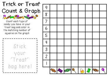 Trick or Treat Count and Graph Halloween Math Fun