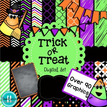 Trick or Treat ~ Digital papers, accents, and clipart