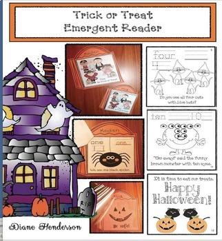 Halloween Activities: Trick or Treat Emergent Reader