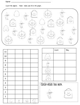 Trick or Treat {FREEBIE} Math Stations - graphing