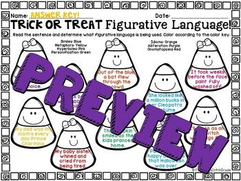 Trick-or-Treat Figurative Language (Halloween Literary Device Unit)