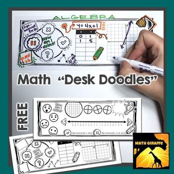 "Free - Math ""Desk Doodles"""